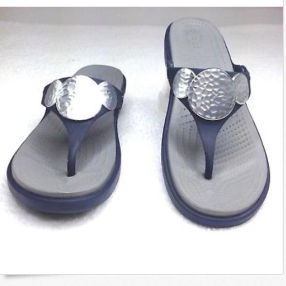f241c9566b43d crocs Shoes | Womens Size 8 W Navy Sanrah B352 | Poshmark